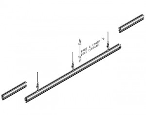Series 18 Stage Curtains Track Dropout Section