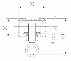 Series 30Z Stage Track Dimensions