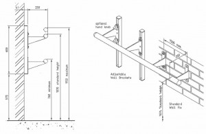 Ballet Barre Brackets - Ballet Barre Dimensions and Assembly